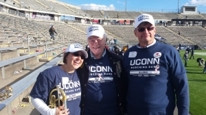 UConn Marching Band alumni and Brothers of Alpha Phi Omega from the decades!