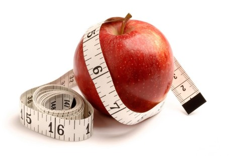 Red apple and tape measure. Image shot 02/2008. Exact date unknown.